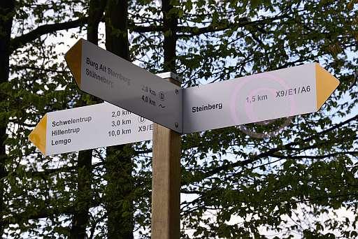 A6 Schwelentruper-Höhenweg-Wegweiser